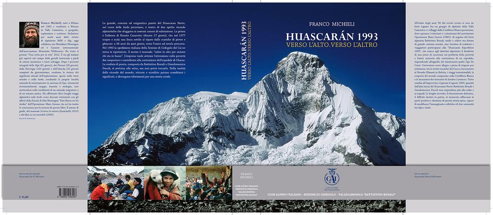 """La copertina del libro """"Huascáran 1993"""""""