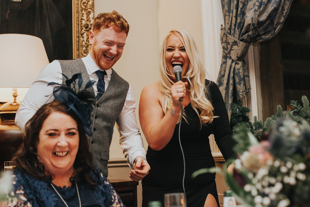 Best Man and Best Women singing