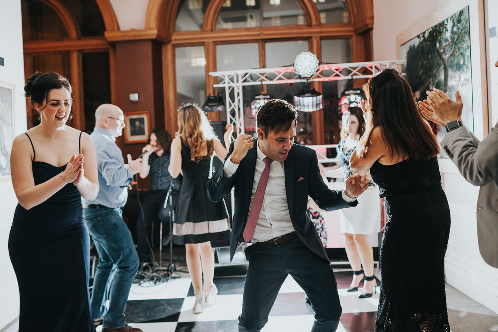 Guests dancing at Racquet Club Wedding