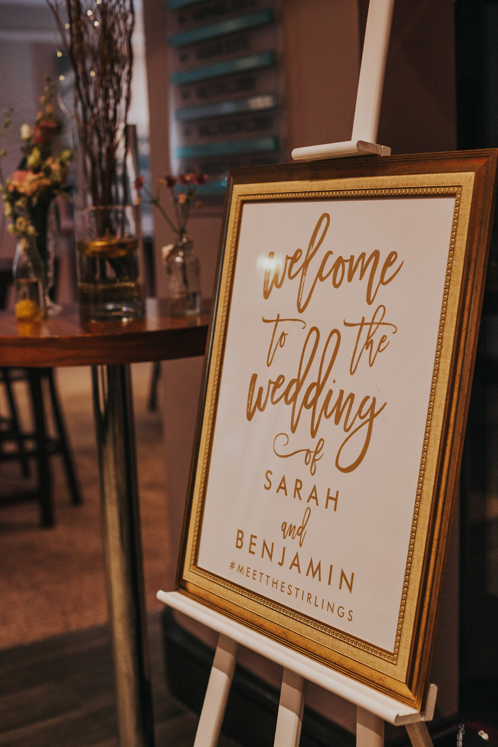 Welcome to the wedding sign.