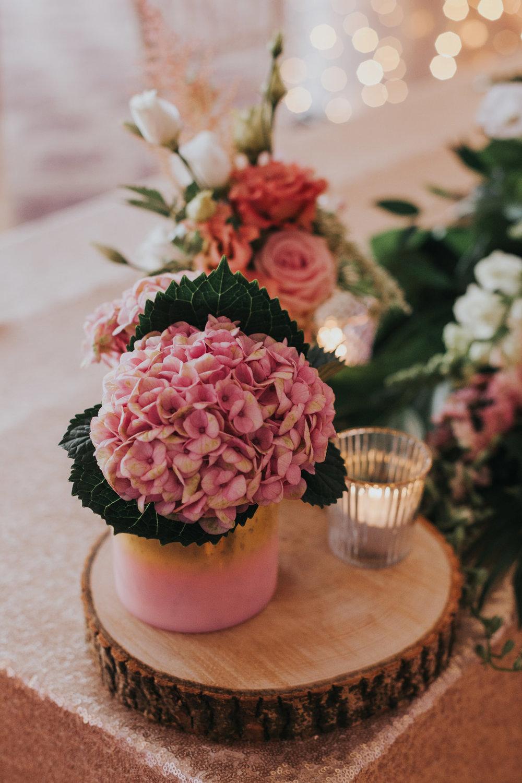 Flower decorations.