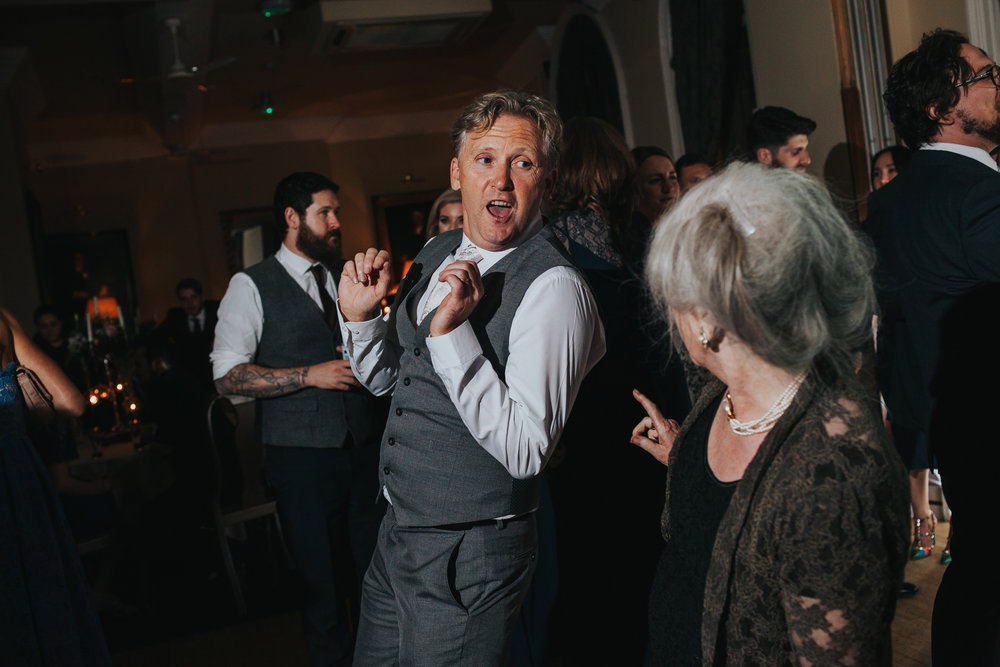 Wedding guest dancing, Racquet Club, Liverpool.