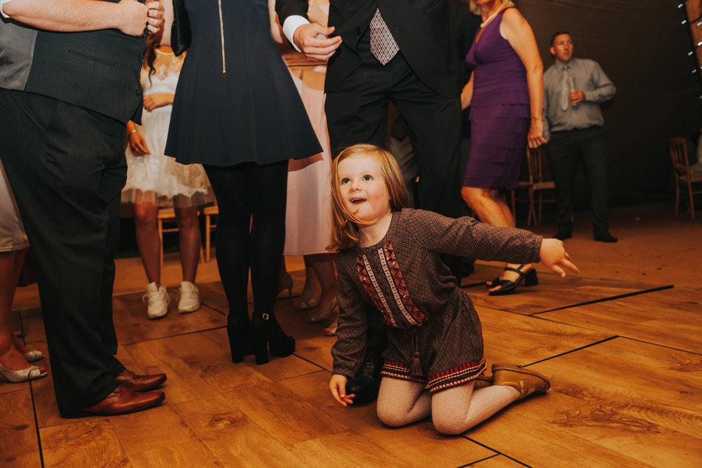 Child on the dance floor.