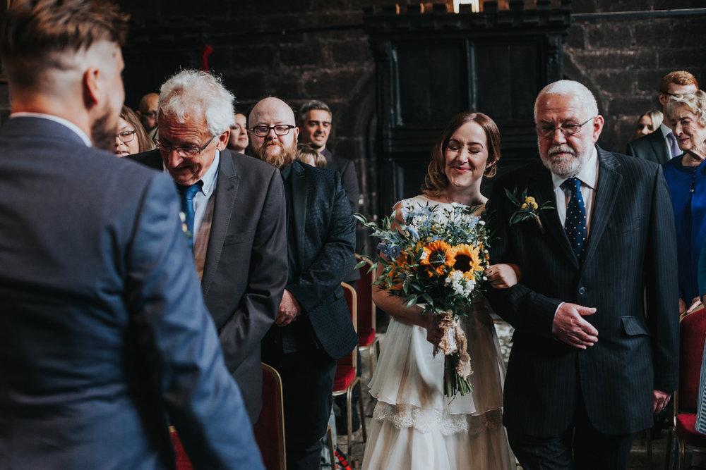 Bride arrives.