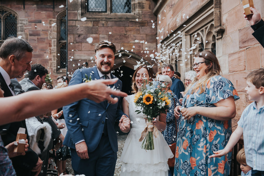 Confetti shot at Chetham's Library.