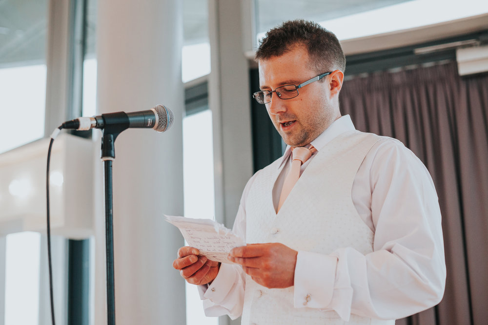 Best Man gives his speech.