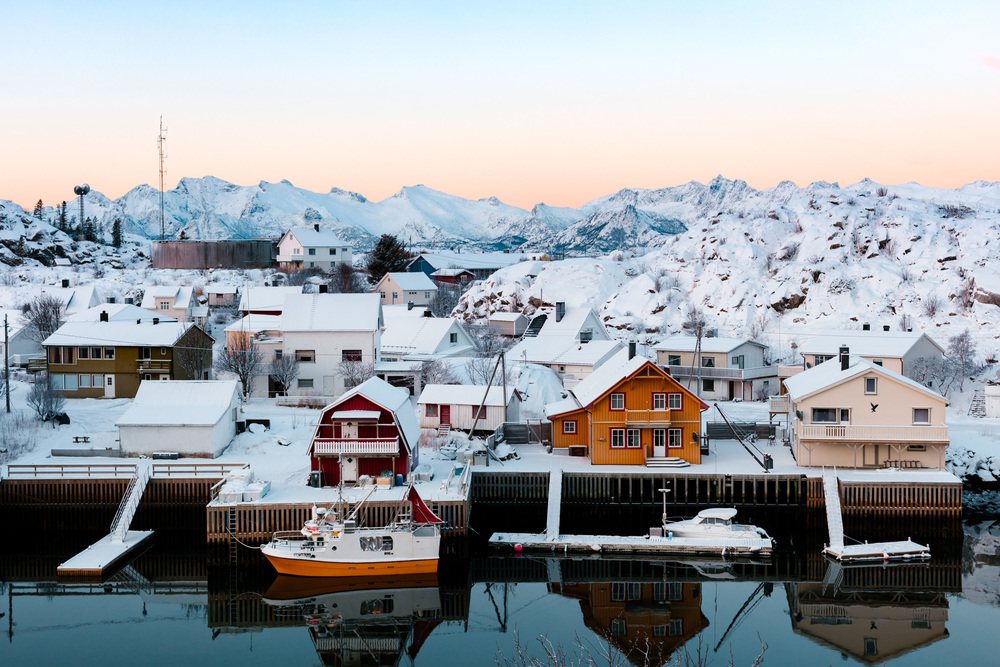 The island of Skrova in Lofoten, Norway looks like a miniature village.