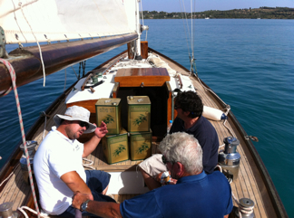 SAIL MED: sailing bulk olive oil with only wind power. Photo by J Lundberg