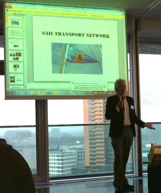 Jan Lundberg speaking at S@IL meeting in Rotterdam, NL.