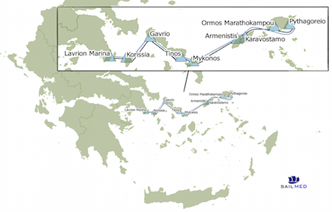 June 2017 Aegean Cargo Sailing Route