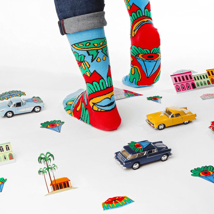 Murnau Den Linden La Isla Bonita Socks  for Lookmate London. Photo courtesy of Lookmate.   Buy it here  .