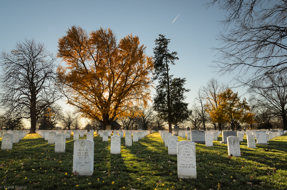 Spanish American War section at Arlington National Cemetery