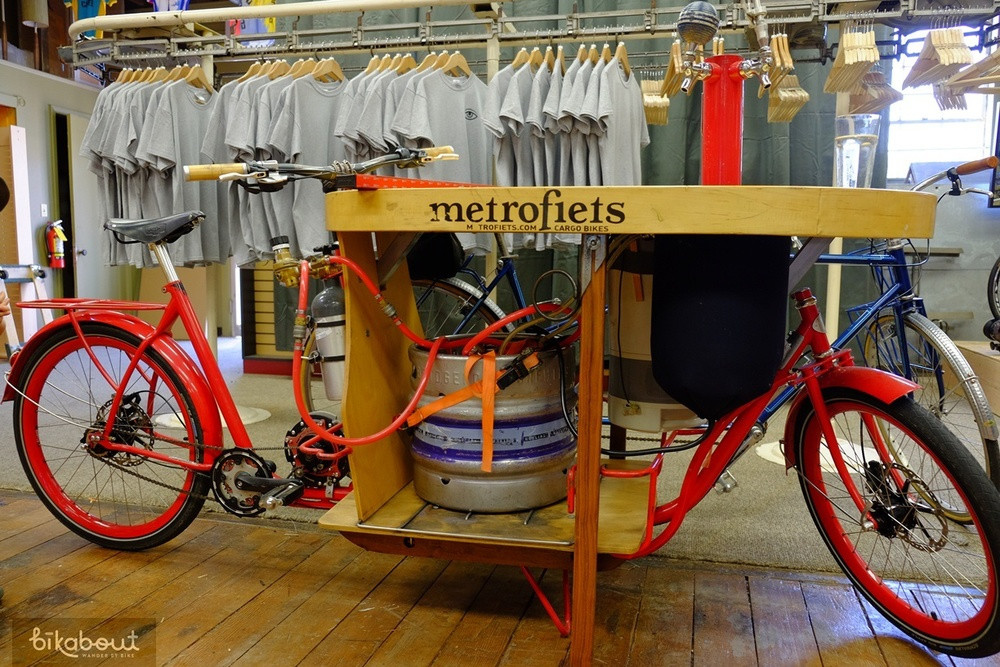 Keg bakfiets at Velo Cult bike shop