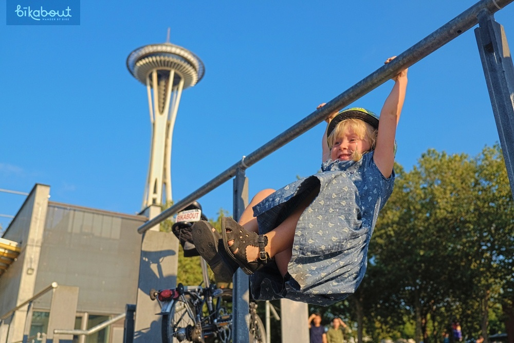 Playing near the Space Needle