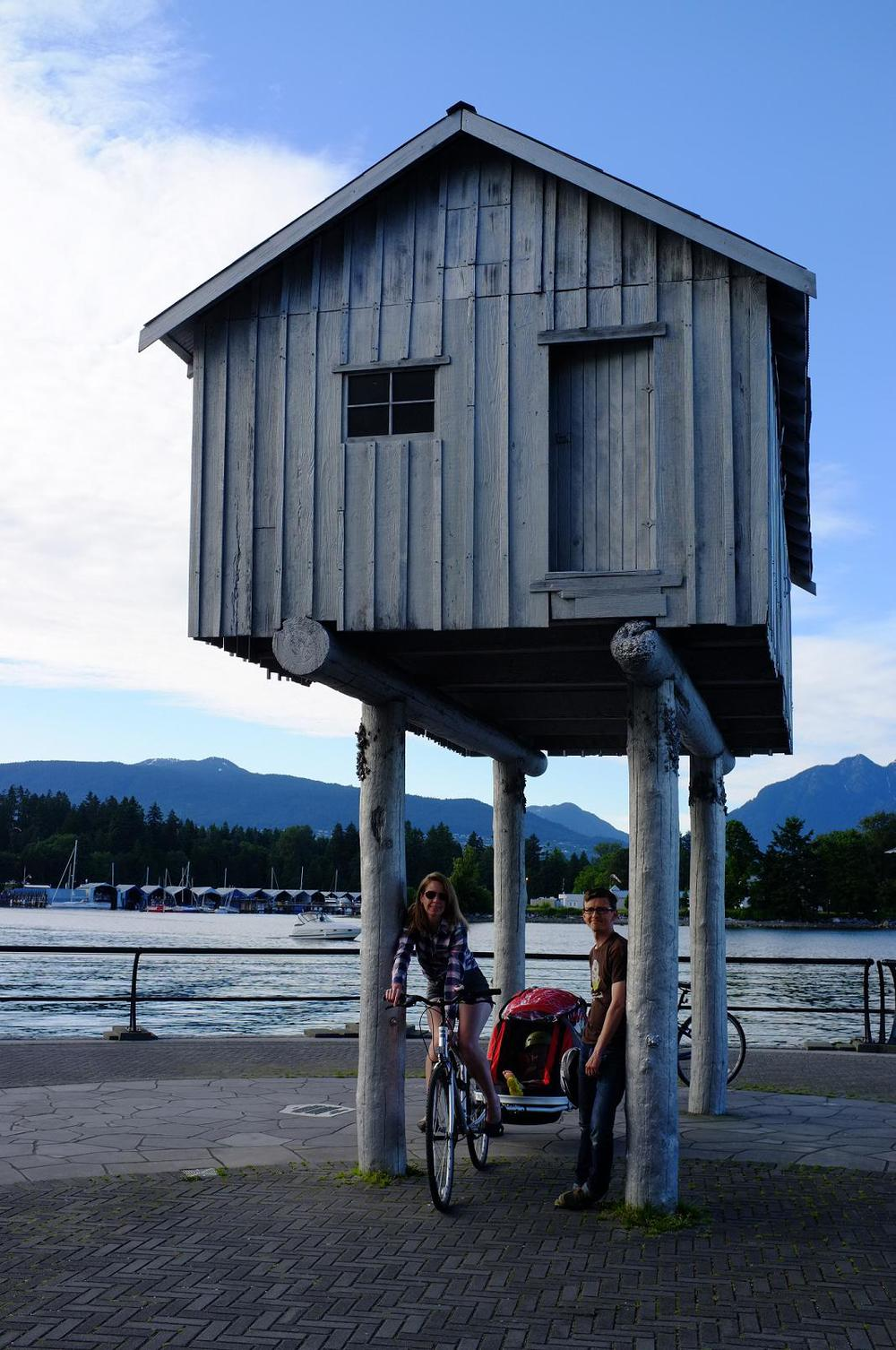Shack on Stilts on Seawall Path