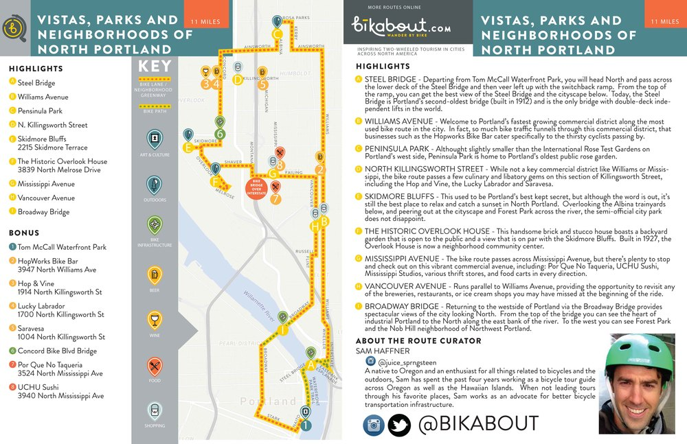 Click image to download PDF of route map.