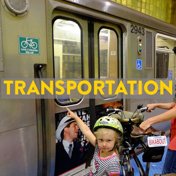 Trains, buses, flights with your bike to Chicago