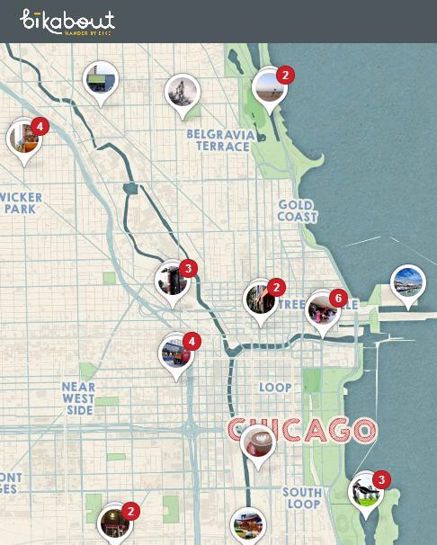 Best eats, drinks, sights by bike in Chicago on Pinterest
