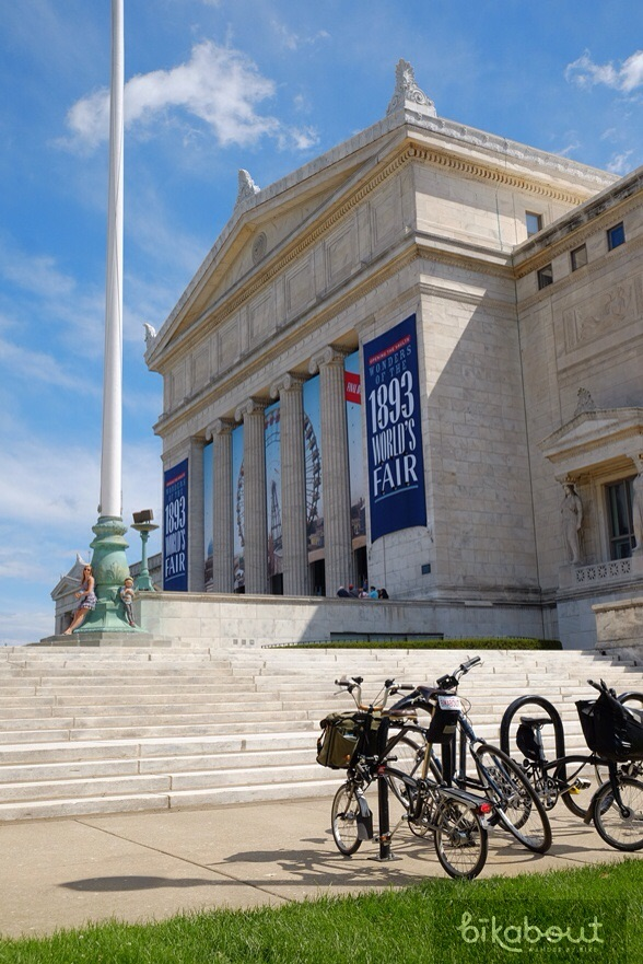 Field museum is expensive but it's situated on the Museum Campus, a scenic biking destination.