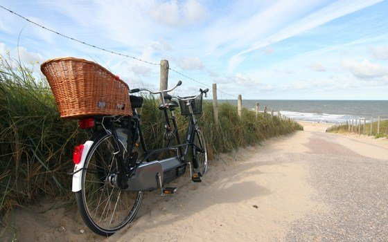 Netherland's Dunes LF1 bike path along the North Sea. Photo by Holland.com