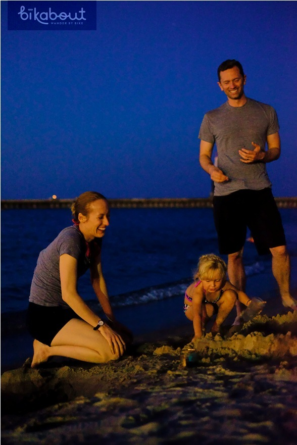 Picnic & playing at night at North Avenue Beach