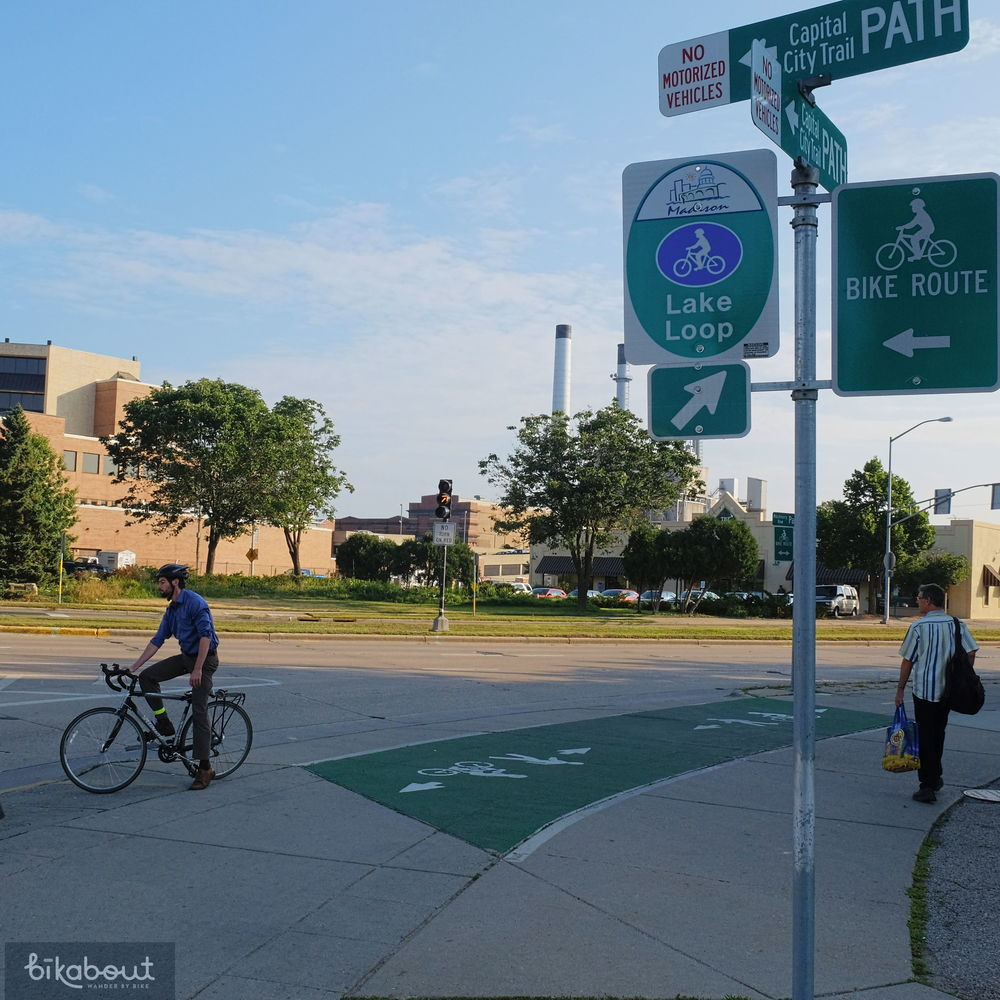 Madison's network of greenways is connected and signed