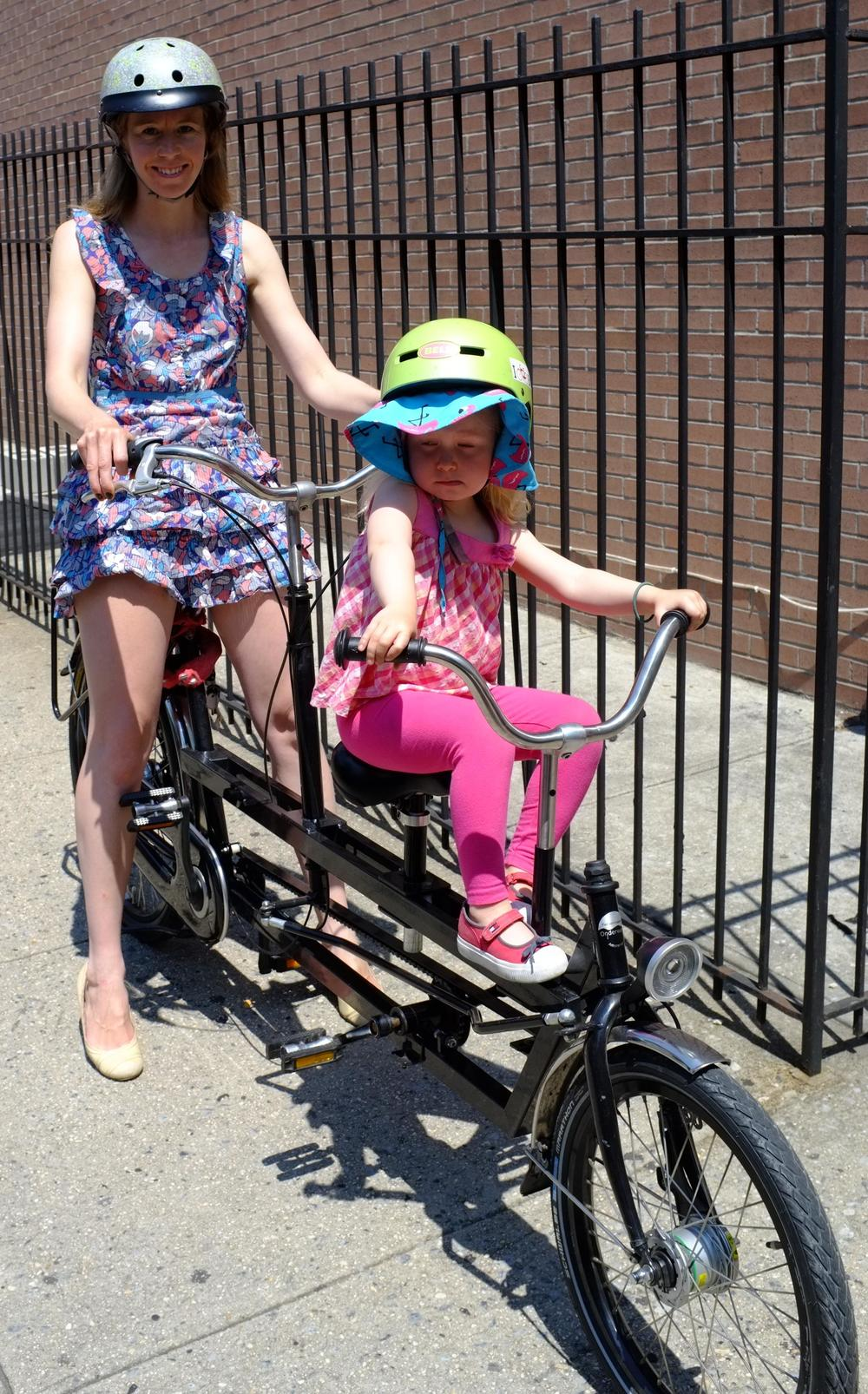 c'mon, you know you've always wanted to ride an Onderwater family tandem. And now you can, courtesy of Rolling Orange rentals in Brooklyn!