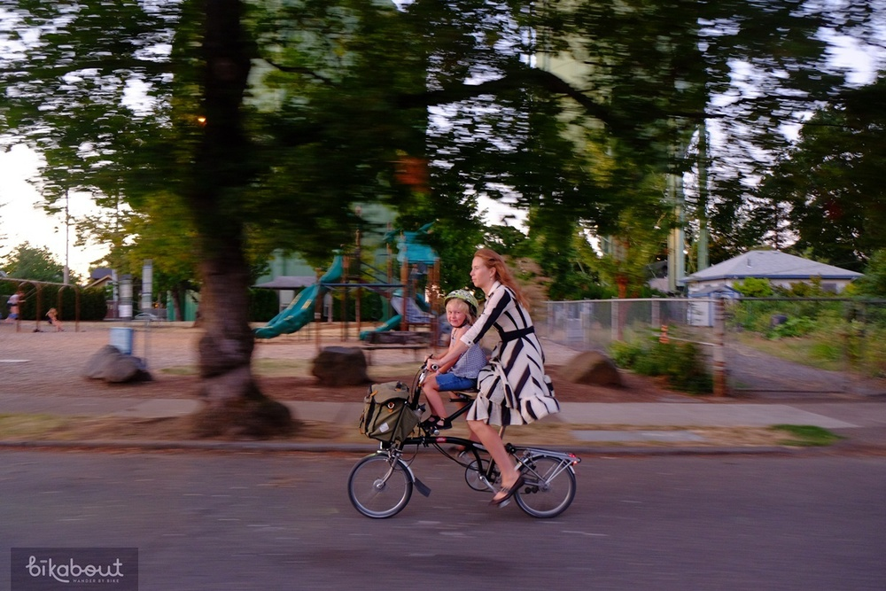 Portland, Oregon. August, 2014. Early evening. 12mph. Bike arrived here by: Amtrak.