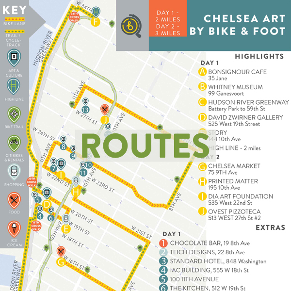 Bicycle Routes curated by locals in New York City