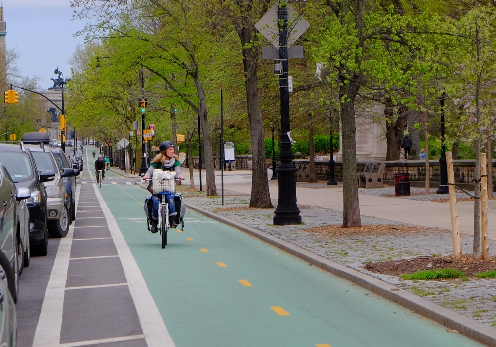 Prospect Park West Cycle Track