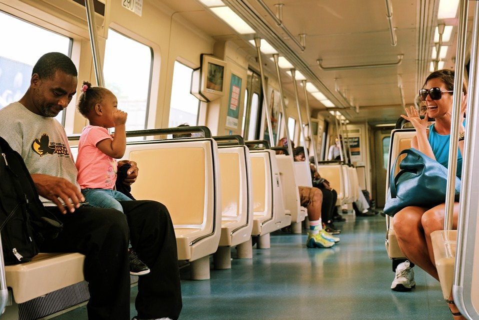 Making friends on MARTA, Atlanta's metro train system