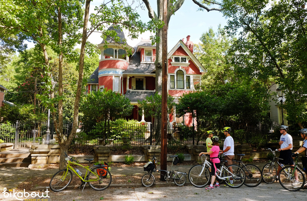 The neighborhoods of Inman Park (shown), Cabbagetown, Kirkwood, Decatur and Fourth Ward have held onto their identities and historic homes.