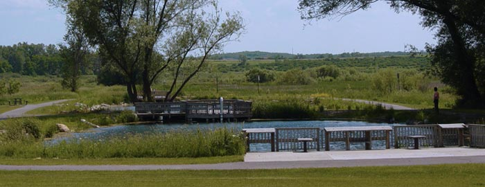Lake County Park is full of walking trails next to the Lussier Family Heritage Center. Photo credit: WI DNR