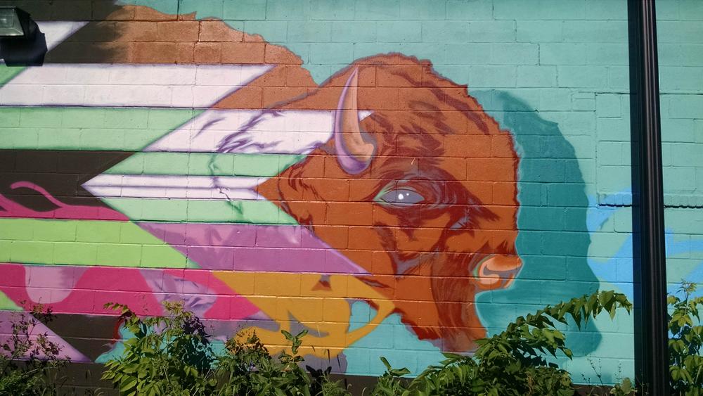 AIOIC Mural on the Hiawatha Bike Tril