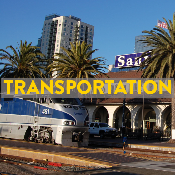 Bike friendly transportation to San Diego