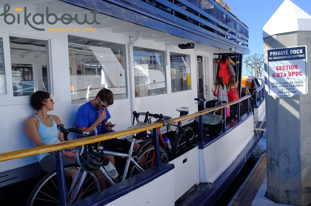 Bike friendly ferries will take you from downtown San Diego to Coronado.