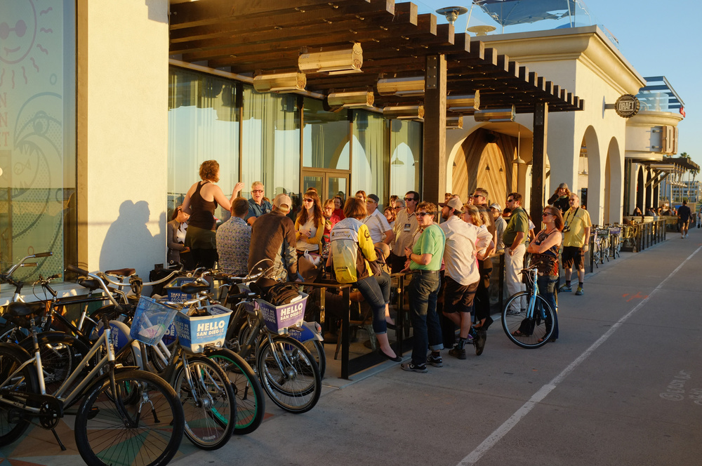 """Gateway Drugs for the Bike Curious"", a mobile session that I coordinated for the National Bike Tourism conference that got professionals in the industry  <gasp> outside on bikes."
