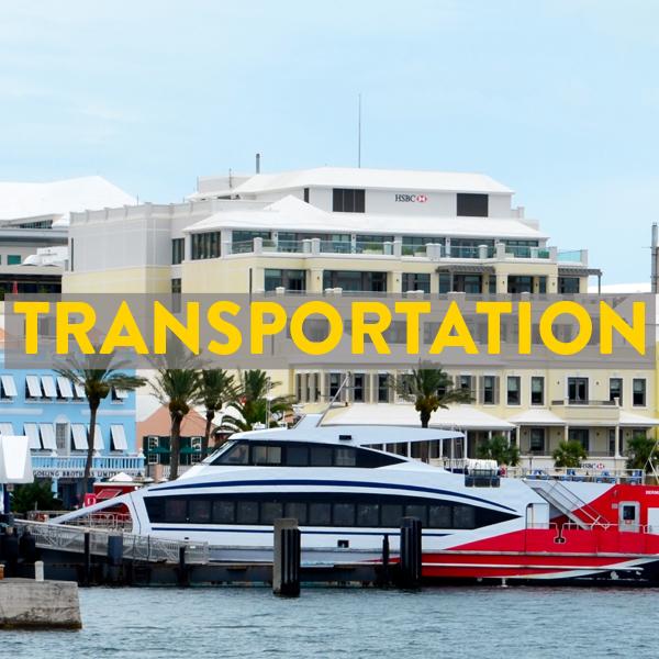 bike friendly airlines, ferries, buses in Bermuda