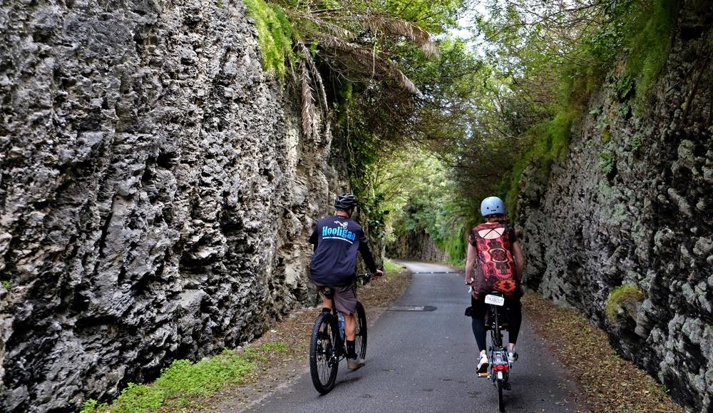 Limestone slot canyons abound.