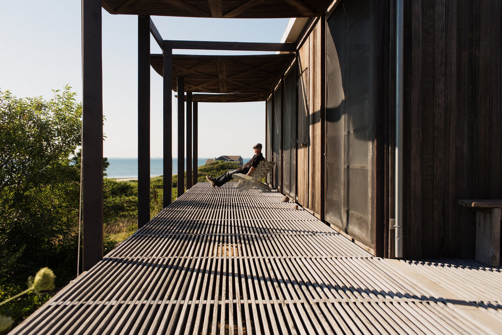 """Hatch House"" in Wellfleet, is a modern house you can rent. Photo credit to NYTimes"