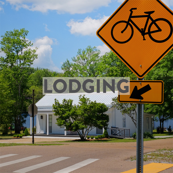 bike friendly hotels & airbnbs in New Albany & Oxford