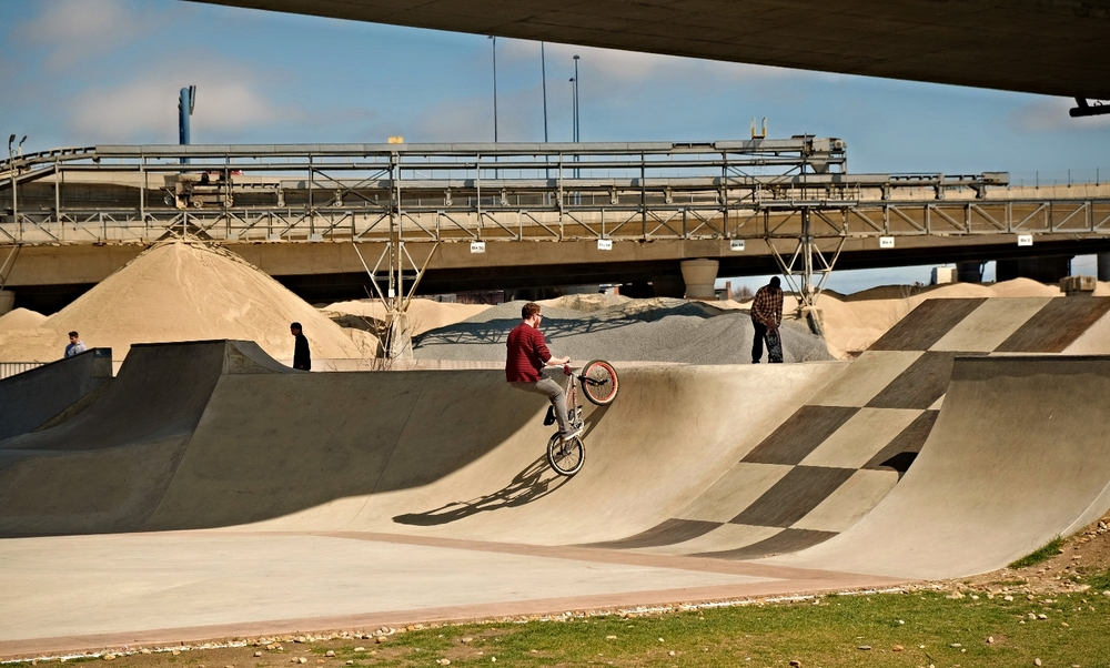 Skate Park under the Zakim Bridge, North Point Park