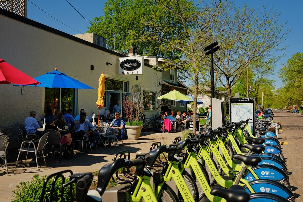 Riding a bike is more about stopping for great food and experiencing local neighborhoods.