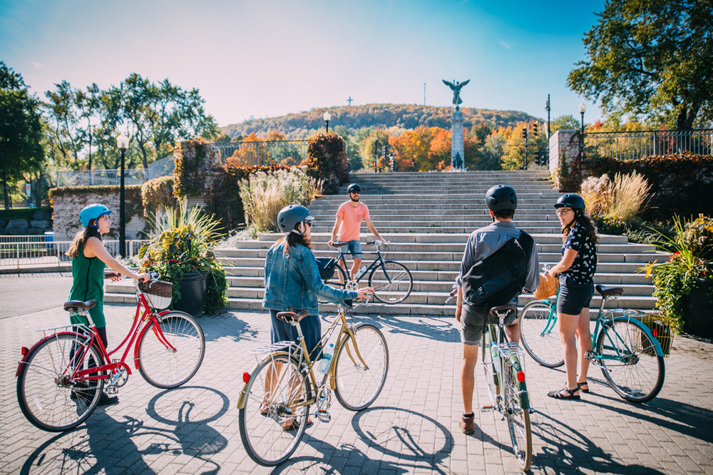 "Bikabout's self-guided cultural tours like this one, ""Montreal's Mont Royal"", are designed to take you places you would never see if you weren't riding a bike."