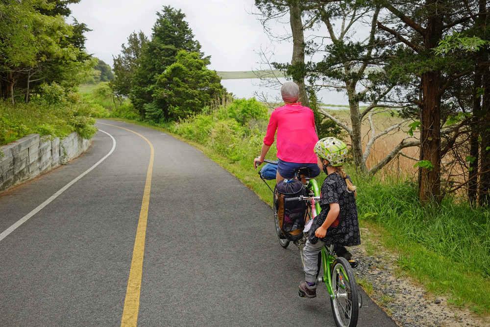 Bike trail down to the Cape Cod National Seashore