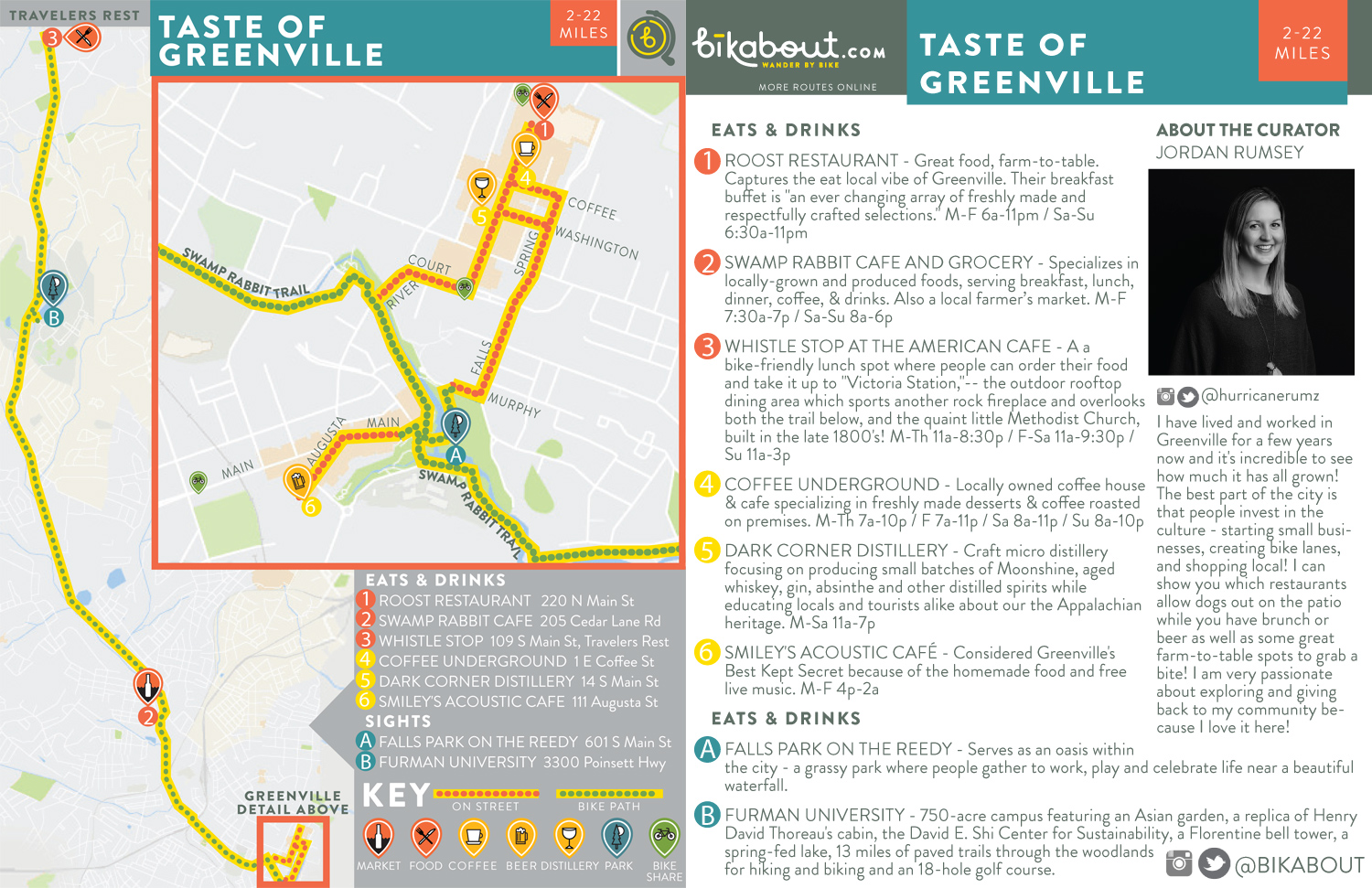Taste of Greenville map