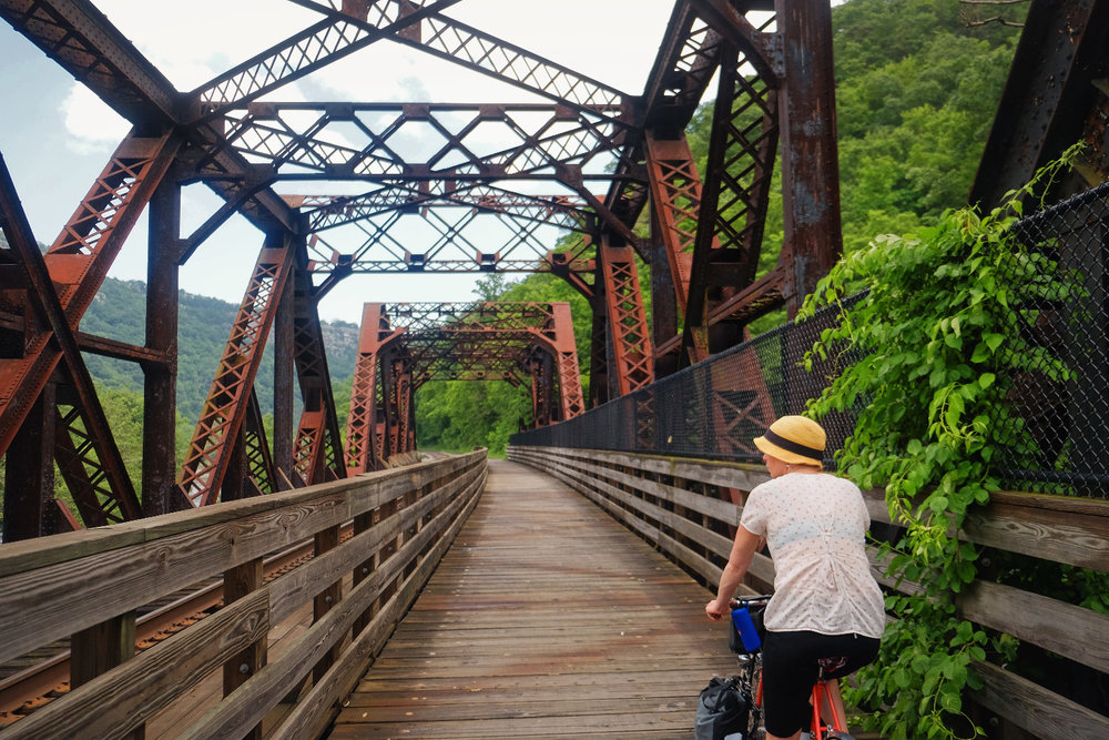 Historic bridges along the Great Allegheny Passage.