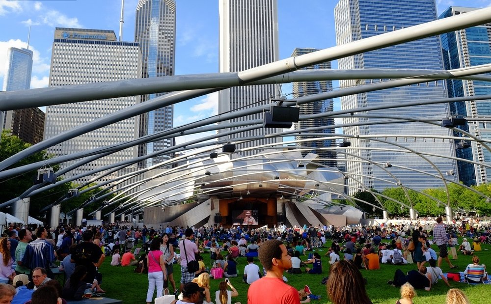 Jazz concert at Millennium Park, Chicago