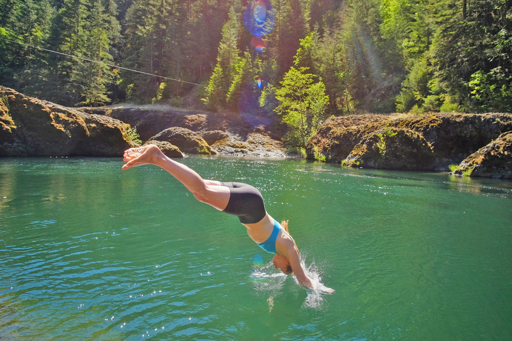 I double dare you to dive into The Narrows water of the Clackamas River.