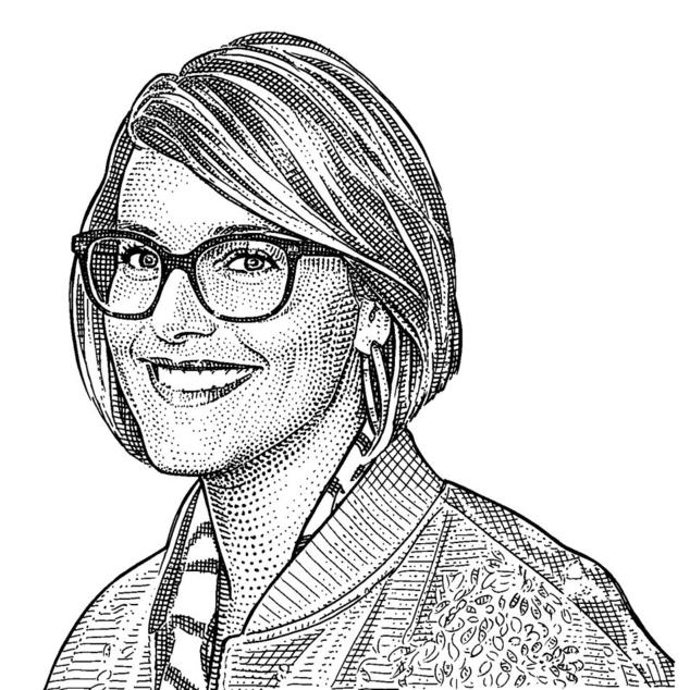 Jennifer Mankins  Owner and founder of Bird boutiques. Illustration by Wall Street Journal.